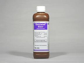 Donnatal (atropine/hyoscyamine/phenobarbital/scopolamine) 0.0194 mg-0.1037 mg-16.2 mg-0.0065 mg/5 ml
